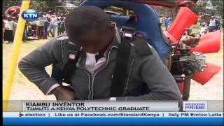 Young inventor attempted to fly an aircraft he had built at home in Kiambu county.