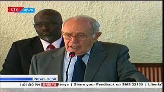 South Africa's retired judge Johan Kriegler  speaks on Kenya