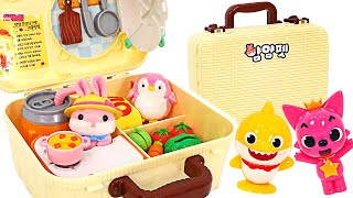 Pinkfong, Baby Shark let's go on a Picnic! Baby Rabbit YumYum Picnic Bag    PinkyPopTOY