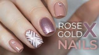 Rose Gold X Nails | NailsByErin