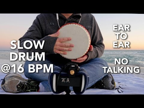 ASMR Tapping - Slow Drum @ 16 Bpm (No Talking, Ear To Ear, Scratching, Hand Motions, Binaural) Mp3