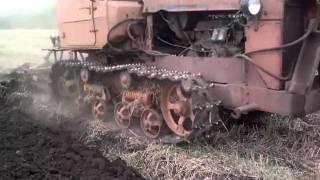 трактор ДТ 75 с двигателем мерседес ОМ366