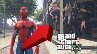 【GTA5】スパイダーマンMODが凄すぎる!暴れまくってみた【アベンジャーズ】