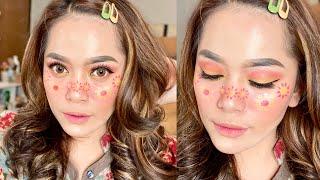 🌸 Flowers Makeup Tutorial 🌸 / Makeup Art Simple Untuk Pemula