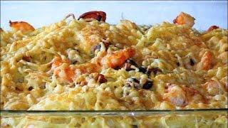 Fetuccine con marisco gratinado con 4 quesos | Javier Romero