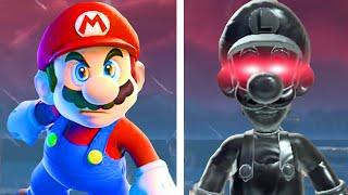 Mario vs. Dark Luigi in Super Mario 3D World + Bowser's Fury (All Fury Luigi Boss Fights)