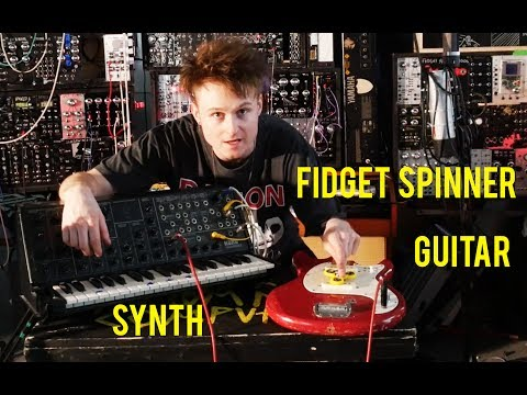 Fidget Spinner Guitar Synth Frankenstein #fidgetspinner