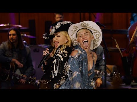 Miley Cyrus, Madonna - Don't Tell Me/We Can't Stop (MTV Unplugged Live)