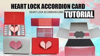 Heart Lock Accordion Card Tutorial In 5 Minutes