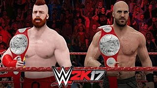 WWE 2K17 Creations: The Brand New WWE Raw Tag Team Championships!
