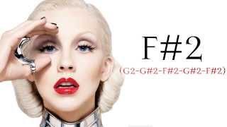 Christina Aguilera: Elastic Love (Harmonized F♯2's)