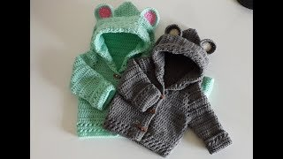 Crochet #9 How To Crochet A Hooded Baby Jacket
