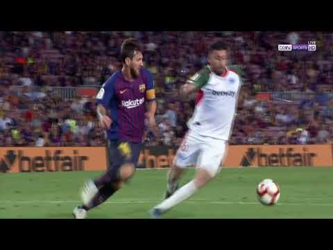 Lionel Messi 2nd Goal VS Deportivo Alaves 3-0 18/08/2018 HD