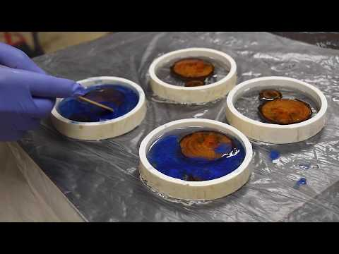 DIY Wood and Resin Coasters