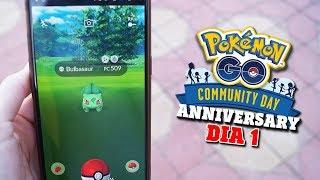 BESTIAL El COMMMUNITY DAY ANNIVERSARY ¡TODOS LOS SHINY! [DIA 1] - Pokemon Go | SoninGame