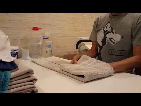 Handtücher japanisch zusammenlegen