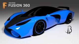 Car Design Speedrun 7 - Using Autodesk Fusion 360 - supercar