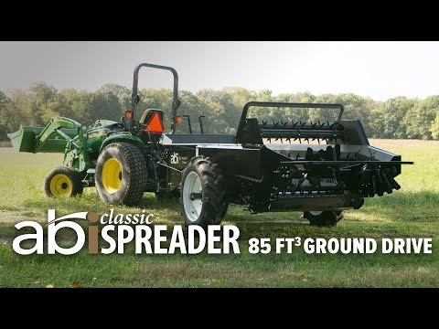 85 cuft Ground Driven ABI Classic Manure Spreader