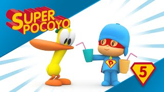 Super Pocoyo encourages us to drink water