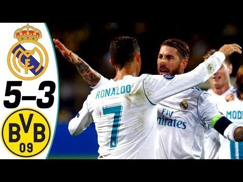 Real Madrid vs Borussia Dortmund 5-3 - All Goals & Highlights