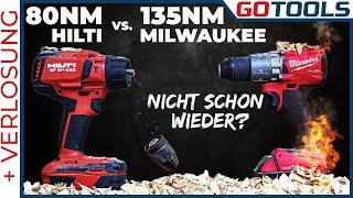 Duell der Giganten! Die stärksten 18V Akkuschrauber von Milwaukee und Hilti im Härtetest | Verlosung
