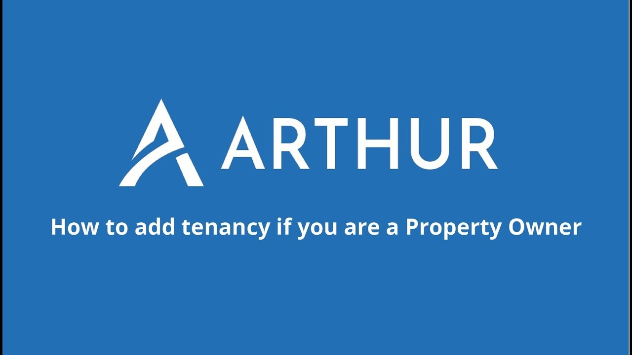 Watch How to add a Tenancy if you are a Property Owner