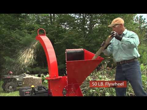 Product Video, Self-Feeding Wood Chipper 16.5 Electric Start