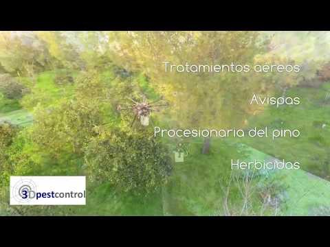 Drone Insecticida Palmeras Arboles Control de Plagas