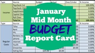 Dumping Debt Fridays | JANUARY MID-MONTH ZERO BASED BUDGET | DAVE RAMSEY INSPIRED