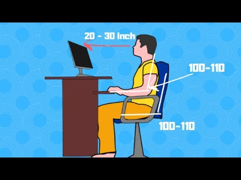 Correct Posture for Sitting in Front of Computer