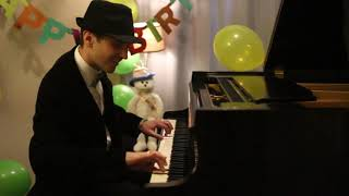 YouTube video E-card Happy Birthday Jazzy Piano Arrangement By Jonny May