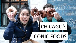Chicago ICONIC FOODS : Best Donut 🍩, Steak 🥩, Italian Beef 🌭 And Deep Dish Pizza 🍕