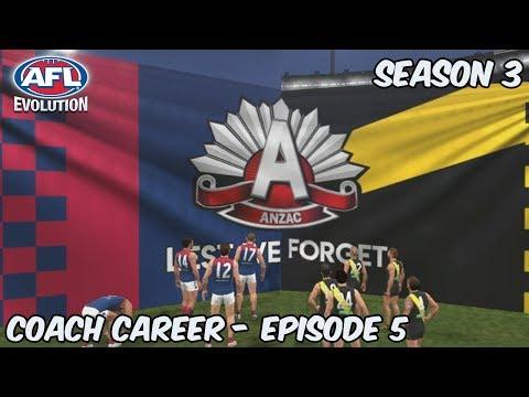 ANZAC EVE CLASH - AFL Evolution: Coach Career - Season 3 Episode 5