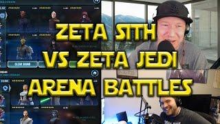 Star Wars: Galaxy Of Heroes - Zeta Sith VS Zeta Jedi Squad Arena