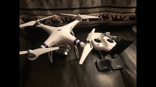 DJI Phantom 3 Standard with antenna upgrades and Magic power software modification 8148ft range test