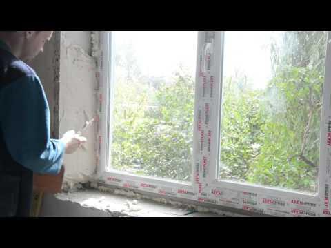 Откосы на окна своими руками С гипсовой штукатурки при помощи самодельного лекала