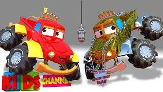 Car Cartoons - Monster Truck Dan + More Vehicle Videos for Kids
