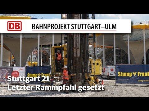 Letzter Rammpfahl für Hauptbahnhof...