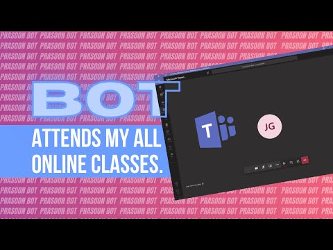 A BOT WHICH ATTENDS ALL MY ONLINE CLASSES [ Microsoft Teams ]  🤖