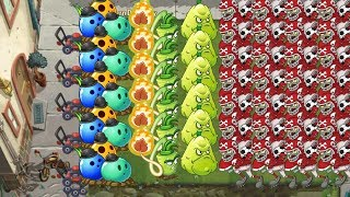 Plants vs Zombies 2 - Bowling Bult, Wasabi Whip vs all Zombies