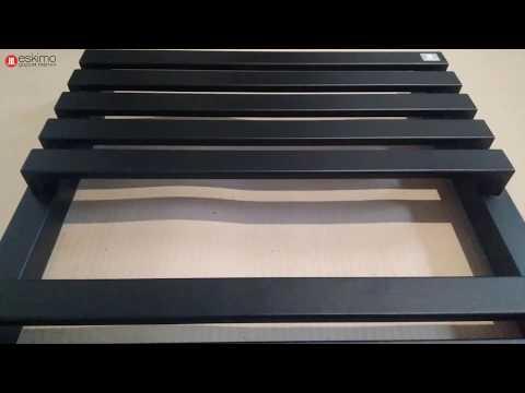 Terma Quadrus Slim 870x450 - электрический полотенцесушитель, цвет Heban