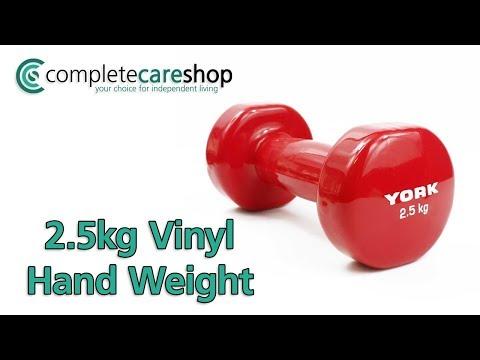 2.5kg Vinyl Hand Weight Demo