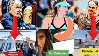 Top 10 Richest Tennis Players in The History | House | Cars | Jet | Yacht