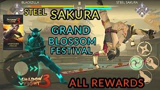 Shadow Fight 3 Steel Sakura   Grand Blossom Festival   All Rewards