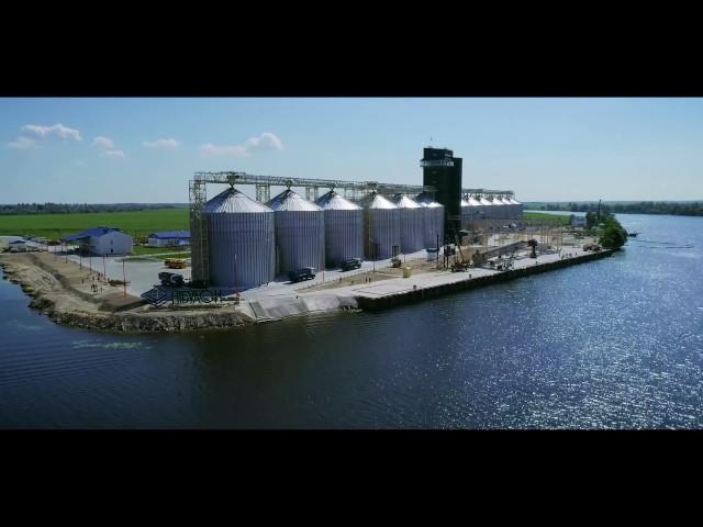 Будівництво перевантажувального термінала ТОВ СП НІБУЛОН в Голій Пристані Херсонської області