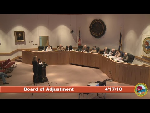 Board of Adjustment 4.17.18