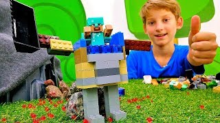 Секреты игры Майнкрафт - Защитный костюм для Стива Minecraft!