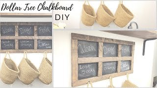 DIY DOLLAR TREE FARMHOUSE CHALKBOARD FRAMED SIGN