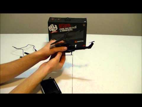 Helo TC app Controlled Helicopter by Griffin, Unboxing/Review