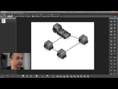 3D-Dekoration - Fahrzeuge - Gebäude - Büros